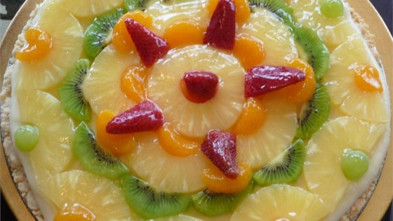 Fruit Pizza with White Chocolate Recipe