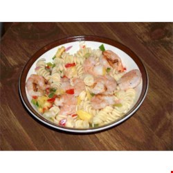 Pasta with Grilled Shrimp and Pineapple Salsa Recipe