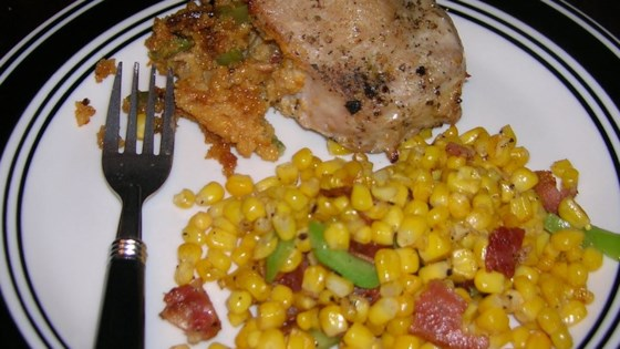 Fried Corn with Bacon Recipe