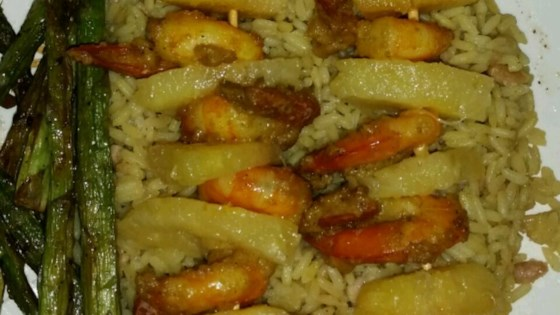 Creamy Curried Shrimp with Grilled Pineapple Recipe