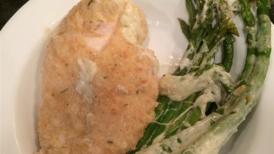 Quick Chicken with Asparagus and Provolone Recipe