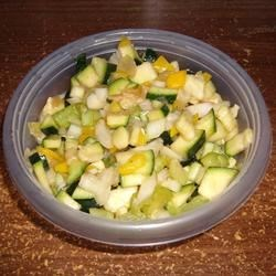 Sweet and Sour Zucchini Salad Recipe