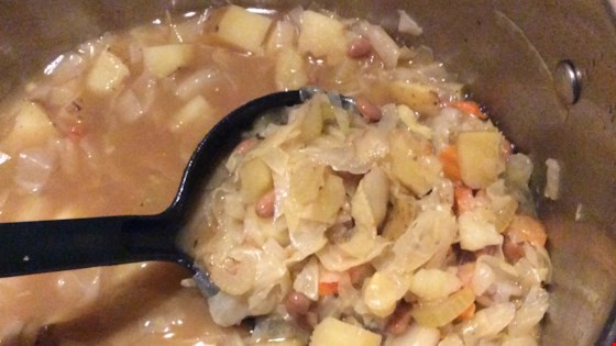 Cabbage, Potato and Baked Bean Soup Recipe