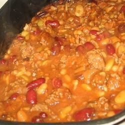 Calico Beans with Beef and Bacon Recipe