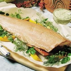 Cold Smoked Salmon with Herb Sauce Recipe
